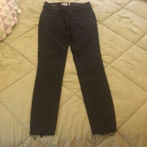 DL1961 black jeans with zippers